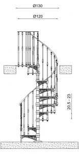 Спиральные винтовые лестницы MODUS спроектированы в соответствии с классическими образцами, но в полном соответствии...